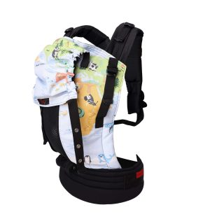 Conquer The World with mash and cover baby carrier